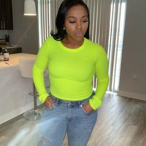 Zara neon Top